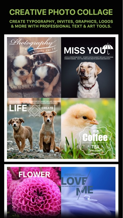 Message Card - Add Stickers, Filters & Text Screenshot on iOS