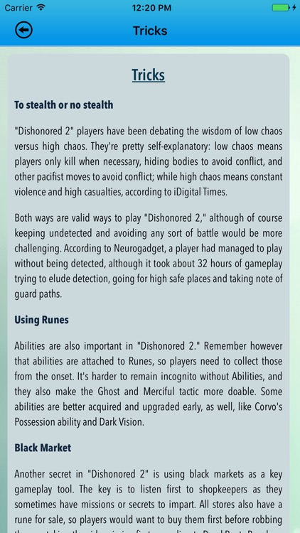 Best Pro - Guide For Dishonored 2 - Unofficial screenshot-3
