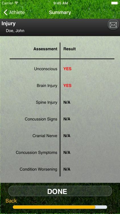 Concussion Assessment & Response: Sport Version screenshot-3