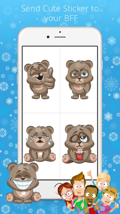 Cuddlebug Teddy Bear Emoji  -Stickers screenshot-3