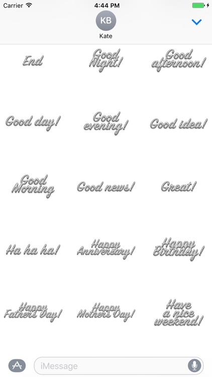 Expression White Stripes Stickers for iMessage screenshot-0