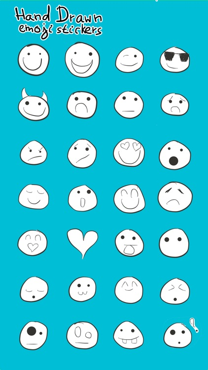 Hand Drawn Emoji Stickers