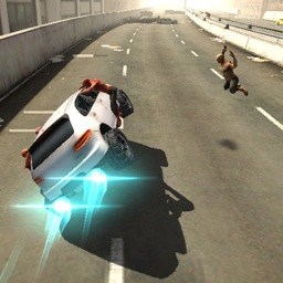 Racing Killing Zombies on Highway War 3D