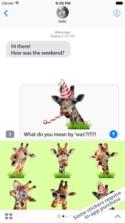 Free Stickers - Live Giraffes 2