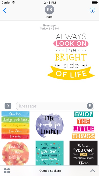Inspirational Quote Stickers For iMessage