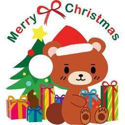 圣诞小熊动态贴纸