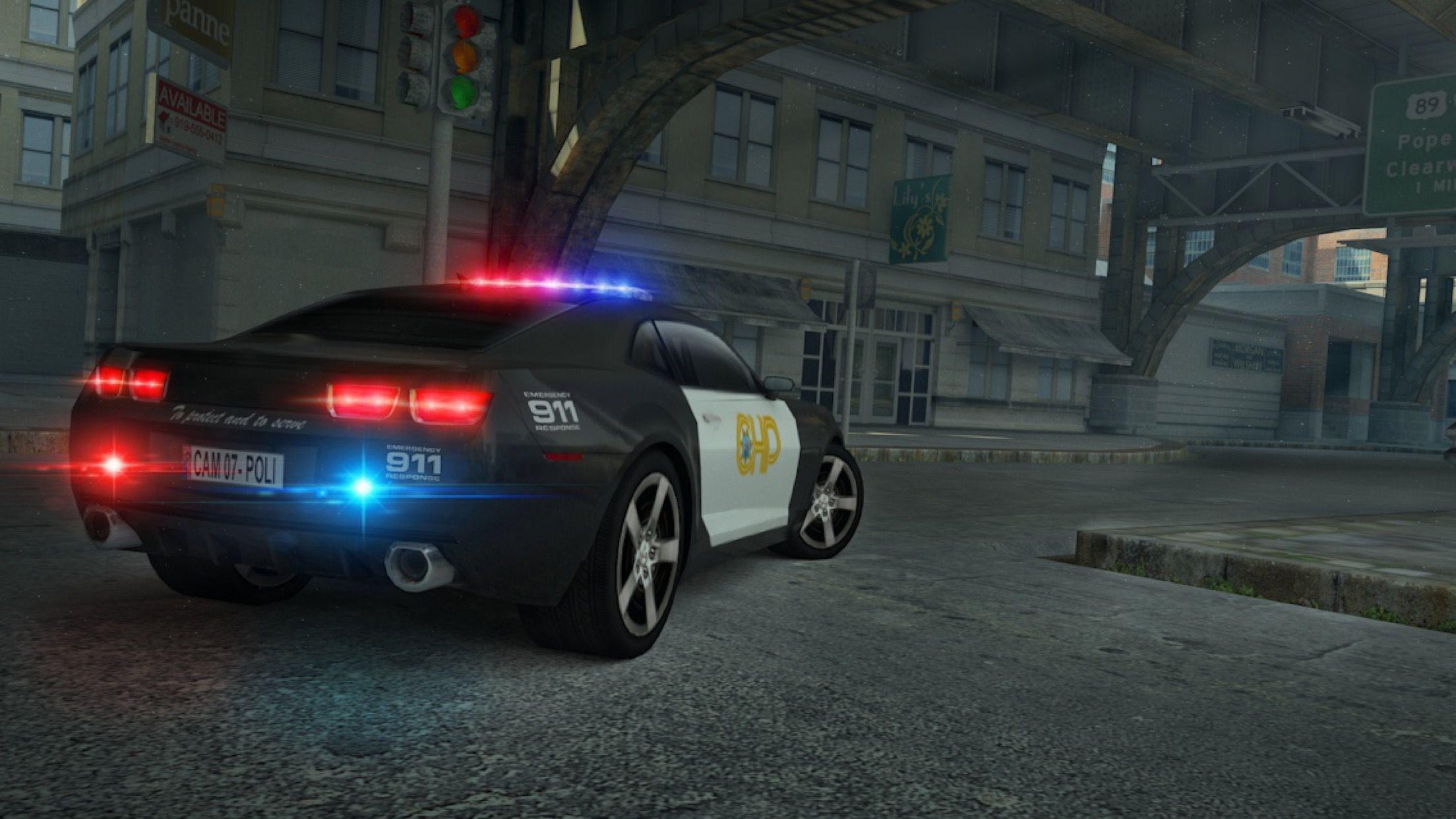 Police Car Parking Simulator Game Screenshot