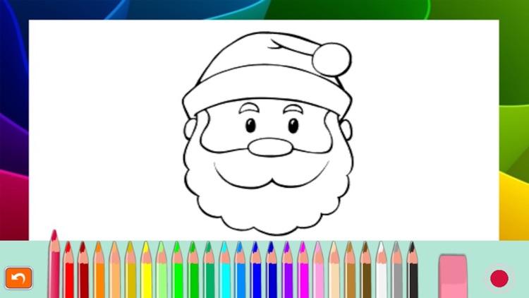 Santa Claus Christmas coloring book! For kids