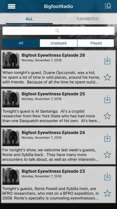 Bigfoot Eyewitness Radio screenshot four