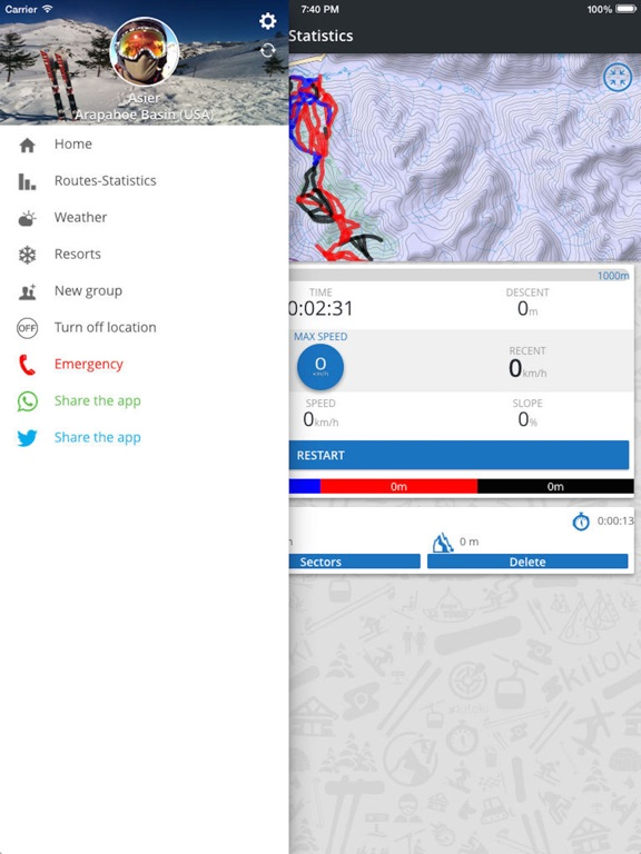 Skitoki: world ski trails, GPS sharing and stats | App Price Drops