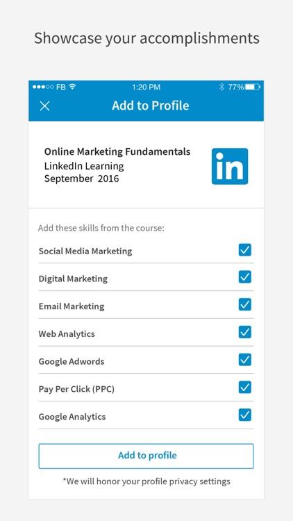 LinkedIn Learning screenshot-4