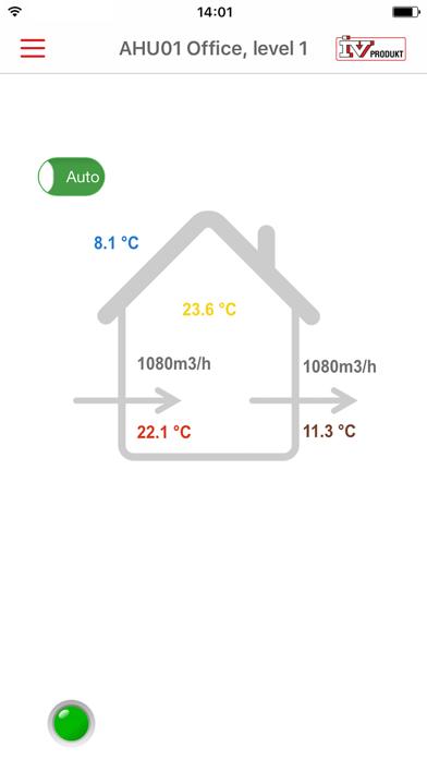 IV Produkt AHU Controls screenshot two