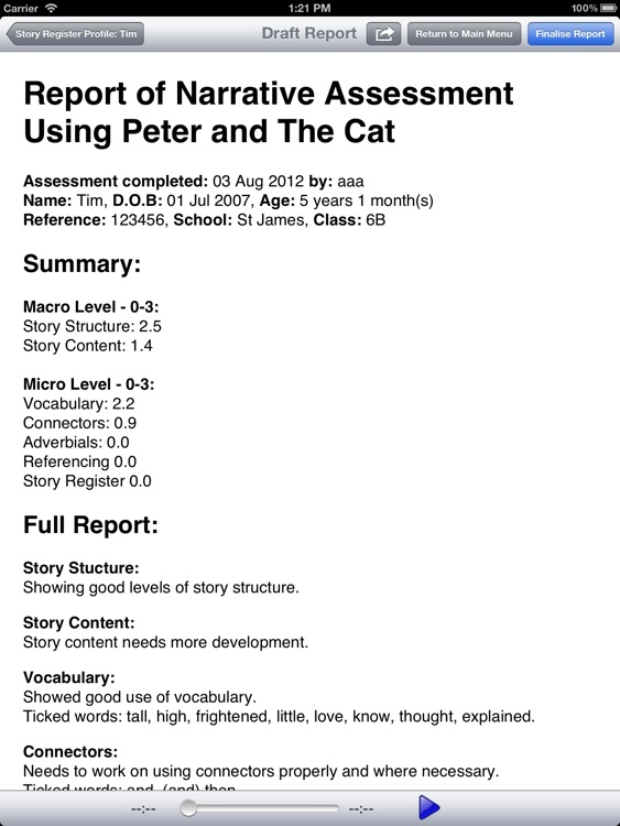 Peter and the Cat Narrative Assessment screenshot-3