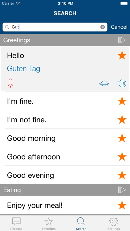 Learn German Phrases Pro screenshot-3