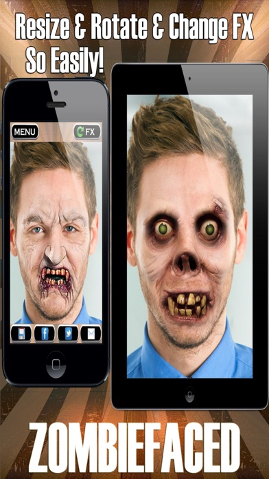 ZombieFaced - Scary Zombie Booth Photo Filters screenshot two