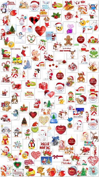 Christmas Stickers and Smiley for iMessage