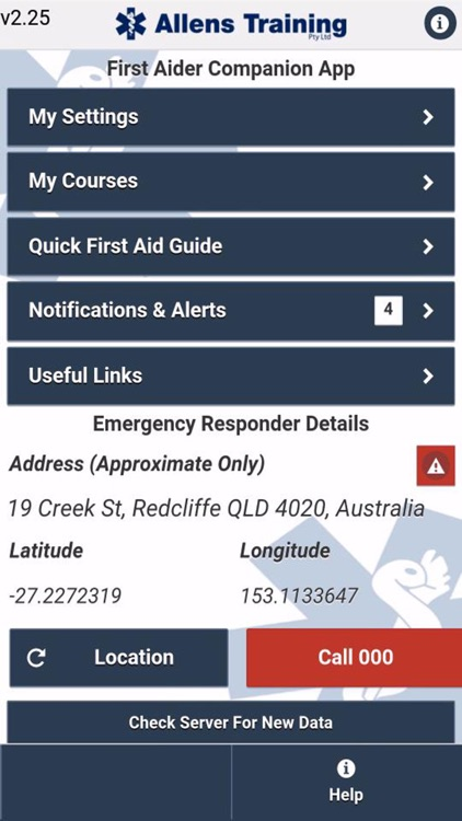Allens First Aid Training Course Attendees App
