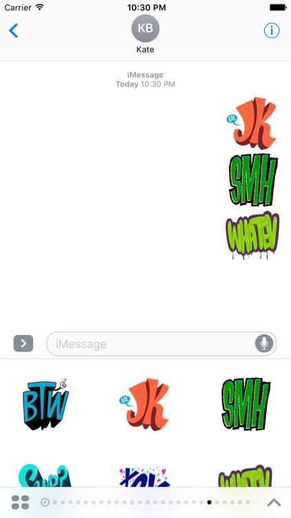 Cute Text Stickers screenshot-3
