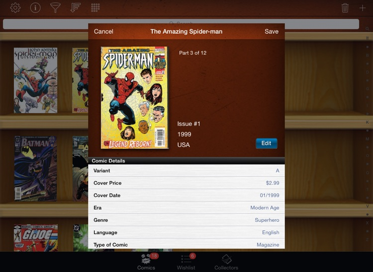 Comic Book Collectors for iPad