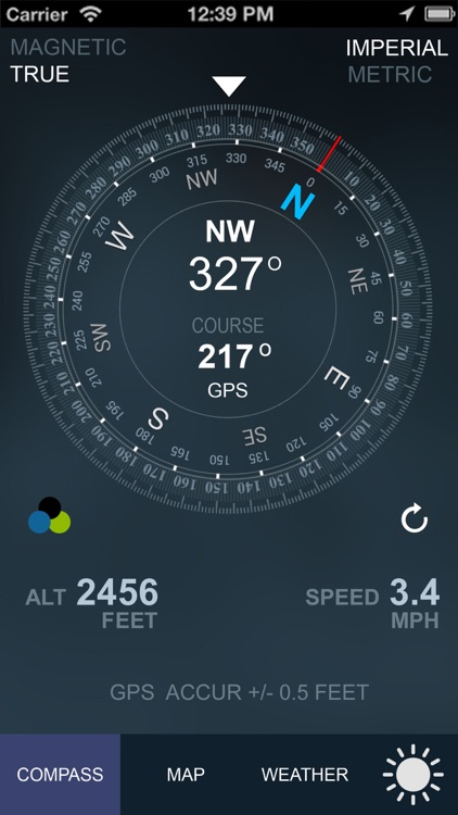 Compass GPS/A.T(Weather,Map,Speedometer,Altimeter)