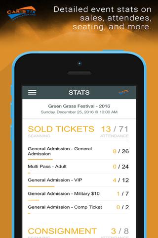 CaribTix Promoter App - náhled
