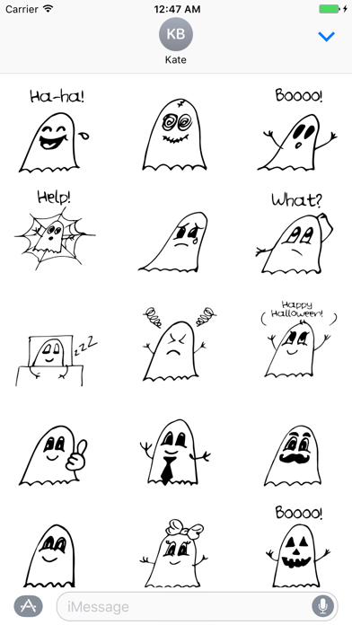 Ghostmoji Doodles screenshot one