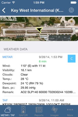 Flugwetter screenshot 2