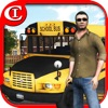 Crazy School Bus Driver 3D HD Plus