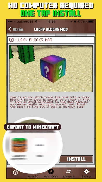 Mods for Minecraft PC & Addons for Minecraft PE app image