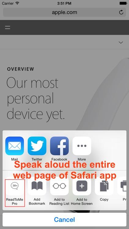 ReadToMe Lite (Text-to-Speech) screenshot-4
