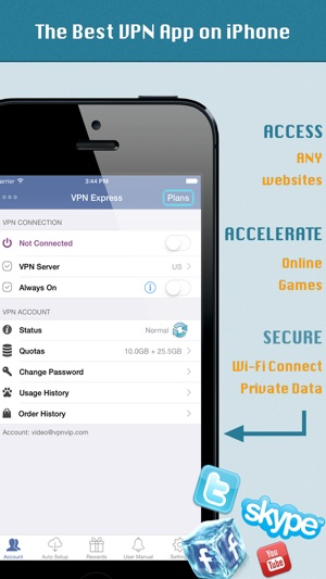 VPN Express - Free Mobile VPN Screenshot