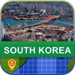 Offline South Korea Map - World Offline Maps