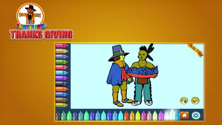 Coloring Book Thanks Giving screenshot-4