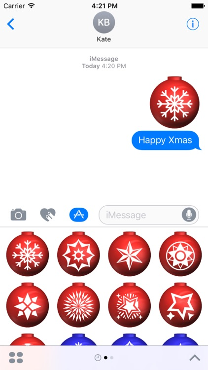 Xmas Balls Stickers screenshot-0