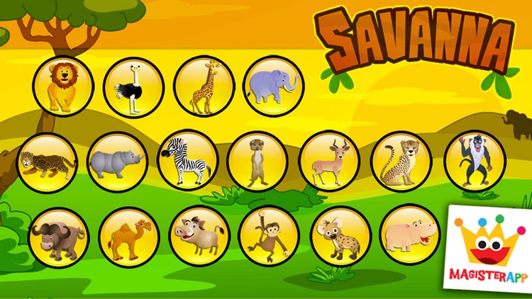 Savanna Animals: Toddlers Games Puzzles Kids Free