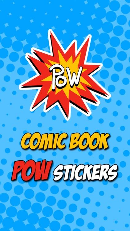 Comic Book Pow Stickers