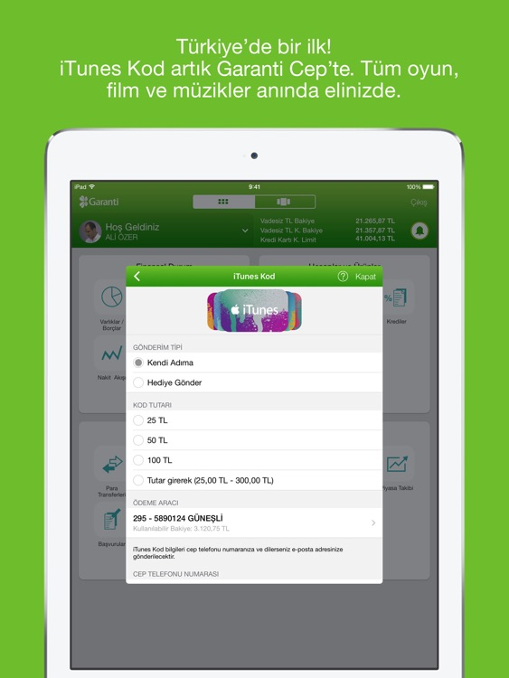 Garanti BBVA Tablet