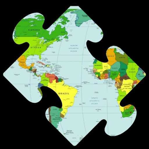 World Map Puzzle with Continents