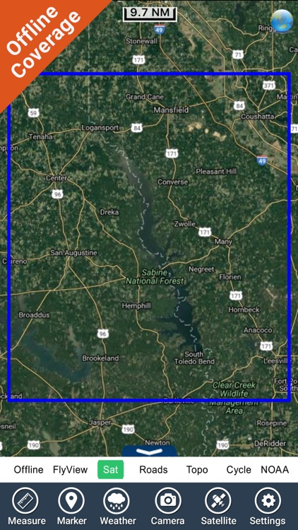 Toledo Bend Texas HD - GPS chart Navigator screenshot-4
