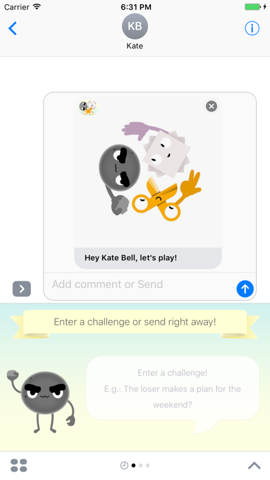 Rock-Paper-Scissors: Game for iMessage screenshot two