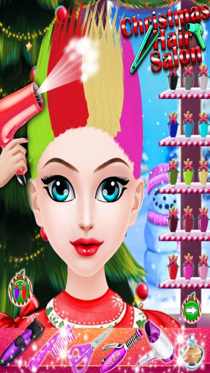 Christmas Hair Salon Spa and Hair Makeup Games screenshot-3