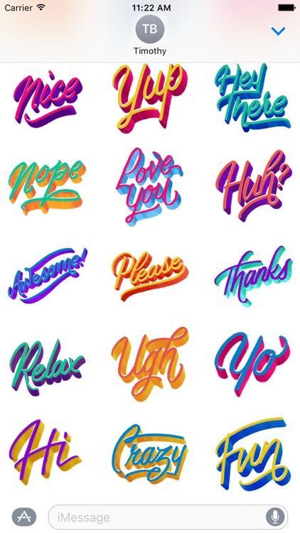 Small Talk: Hand Lettered Stickers