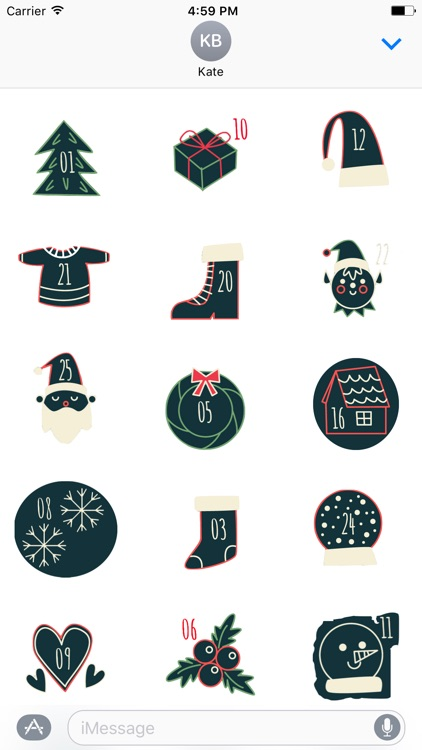 Christmas Advent Calendar - Fc Sticker screenshot-0