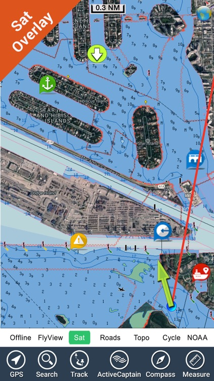 Boating Hawaii GPS kml map nautical fishing charts