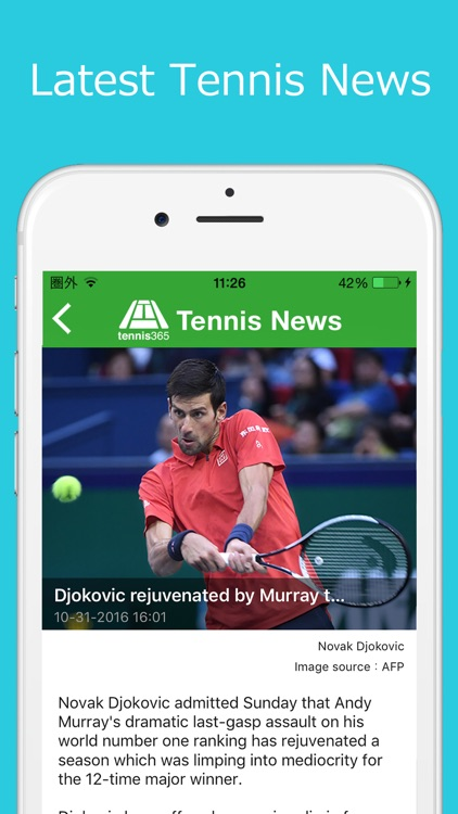 World Tennis News / Live Scoreboards