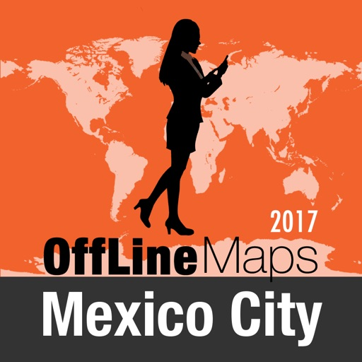 Mexico City Offline Map and Travel Trip Guide