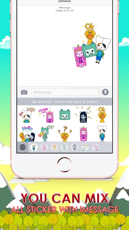 Adventure Boy Emoji Stickers Keyboard ChatStick