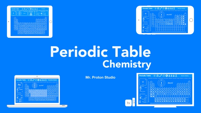Periodic table chemistry on the app store iphone ipad imessage apple watch urtaz Choice Image