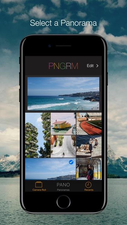 PNGRM - Panorama to Instagram