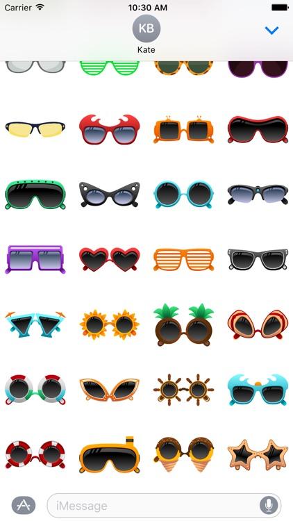 Sunglasses Stickers for iMessage screenshot-3